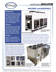 Arctic Case Study: Military F16 Test Stand Chillers
