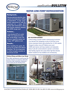Arctic Case Study: Pharma Low-Temp Refrigeration